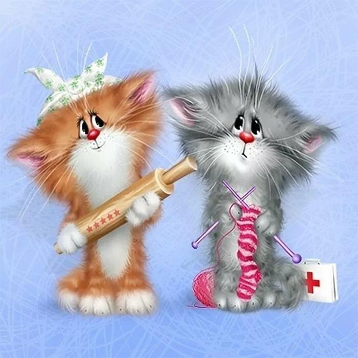 Нарисованные картинки котят прикольные, надписью худею картинки