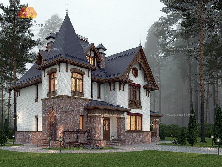 Фото и проекты домов замков