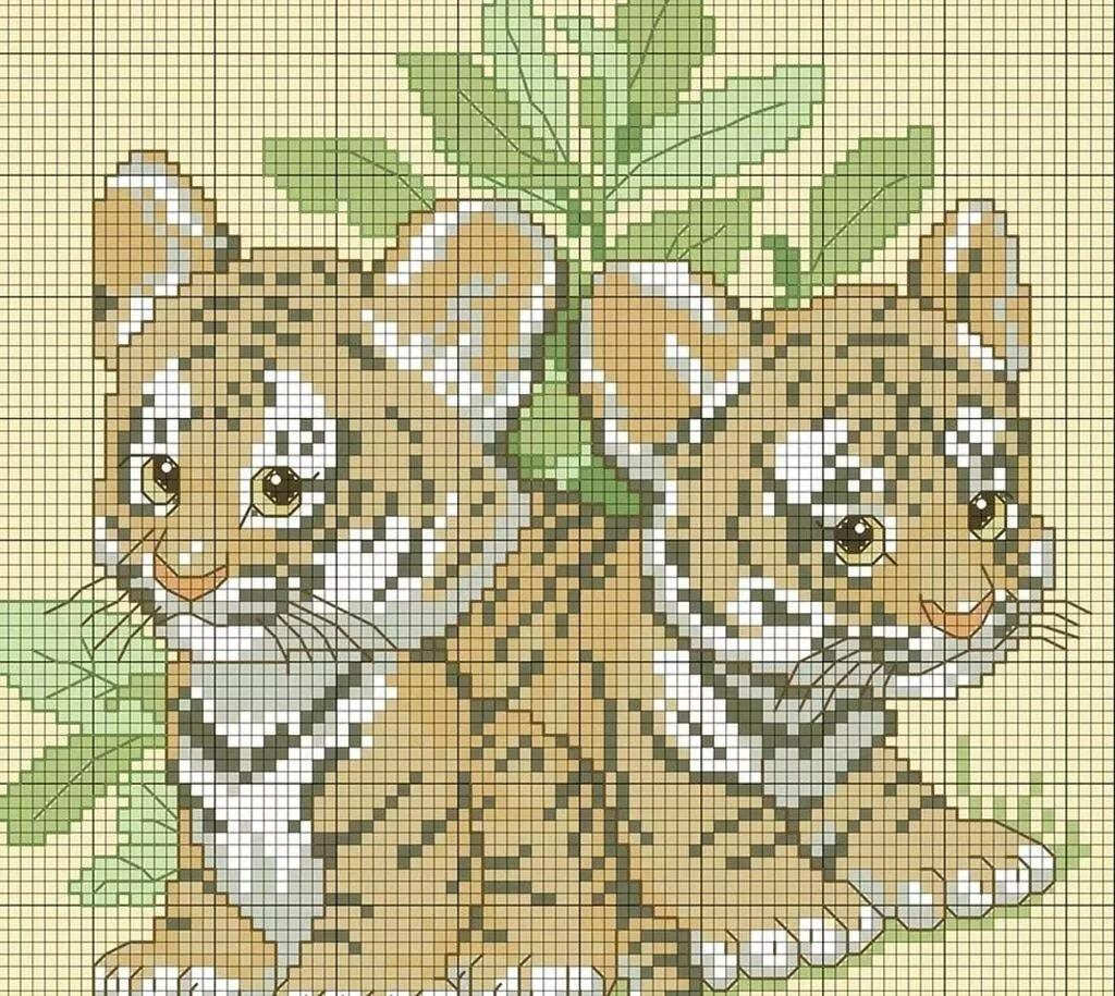легко картинки для вышивания крестиком животные они