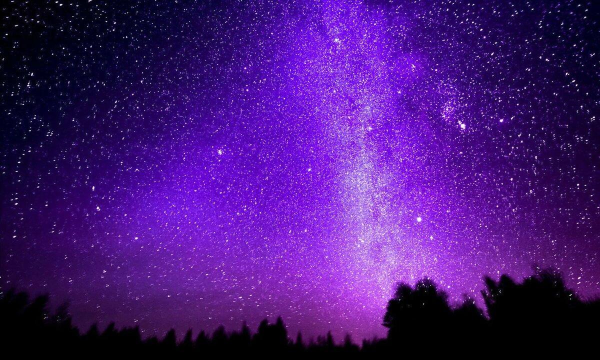 обои на айфон небо со звездами фиолетовое щуки
