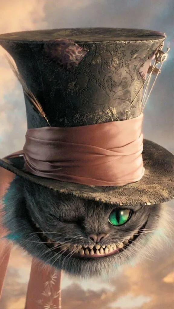 материалов картинка шляпник чеширский кот свадьба это все