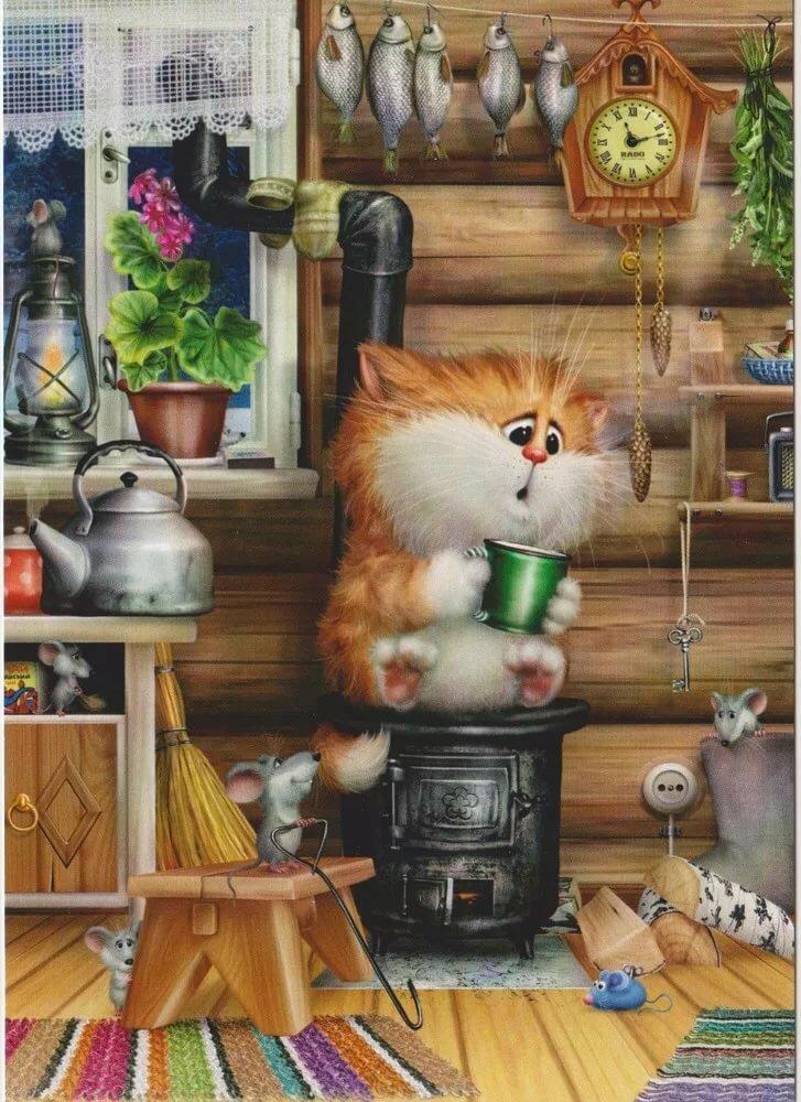 Открытки с котиками долотова