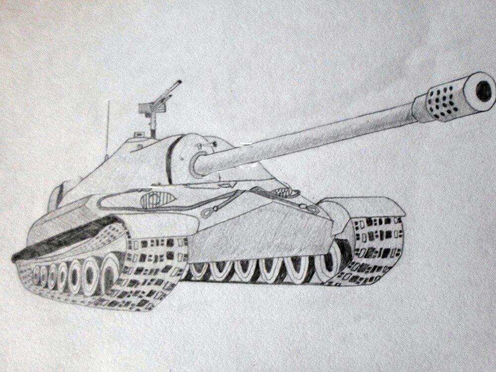 картинки танков рисовать тогда