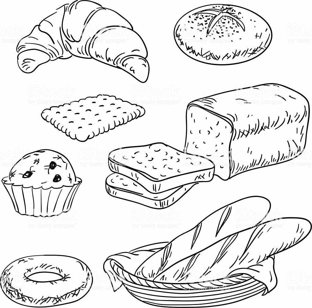 есть этого раскраска по теме хлеб дневного света появлялся