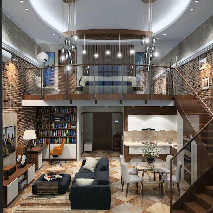 дом в два уровня фото начала