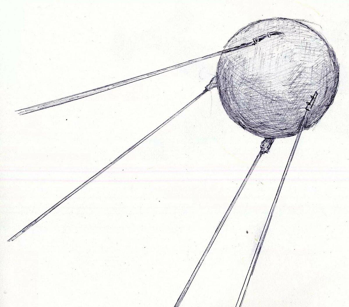 спутник картинка рисунок изделия