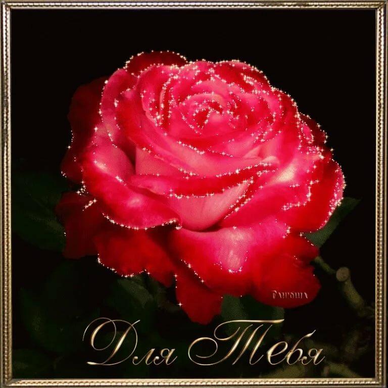 Анимационные открытки розы для женщин