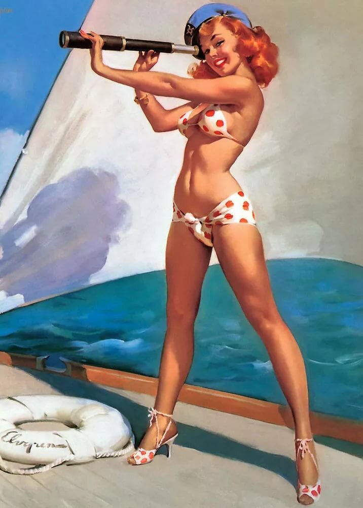 Vintage beach pin up girl nude free pictures larg