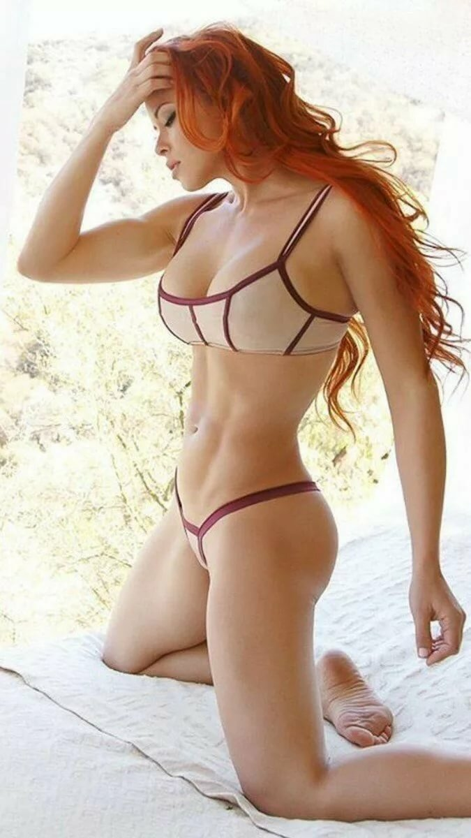 Redhead in a thong bikini, second life girls sex