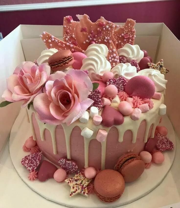 Торт в день рождения фото, новогодний