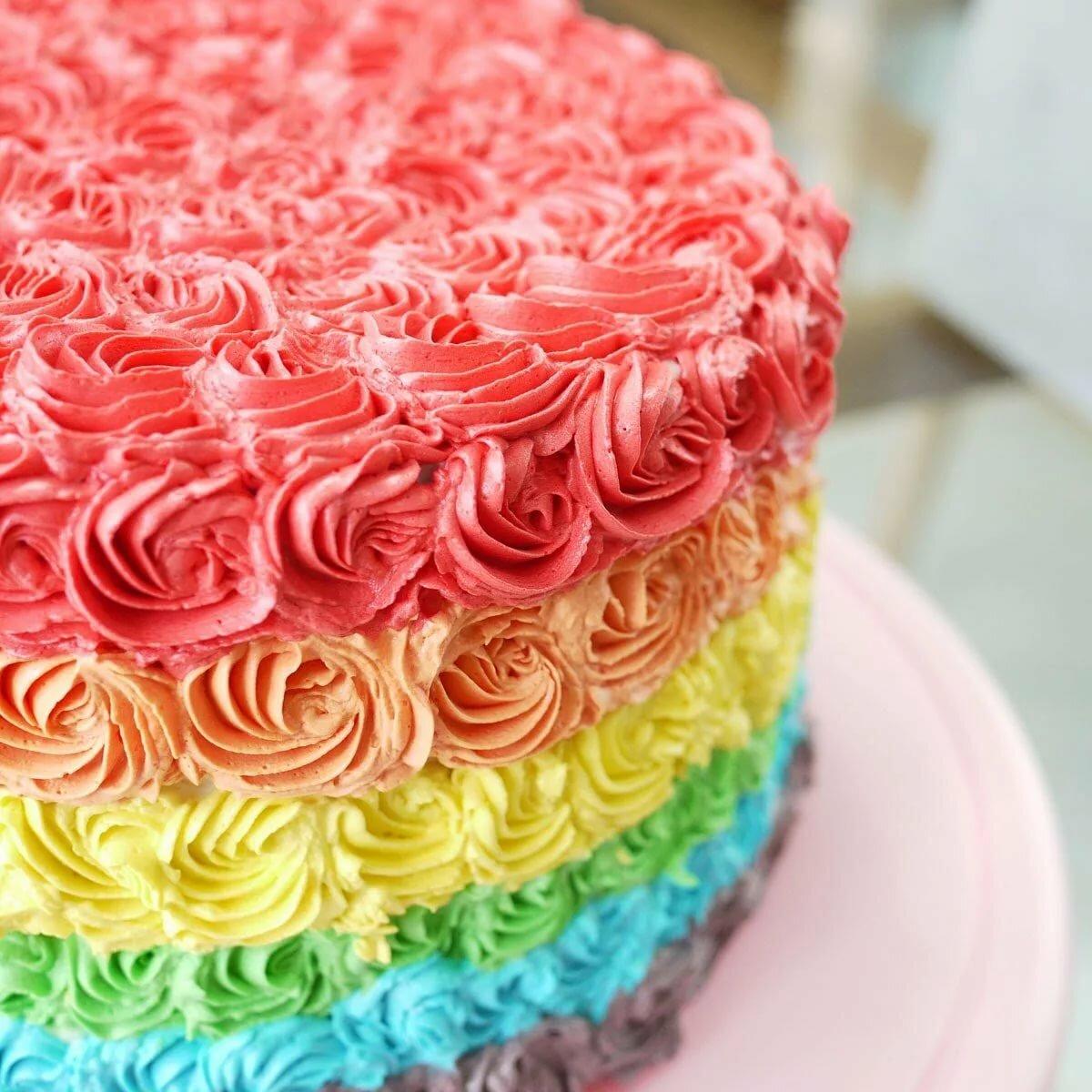 картинки радужного торта тип смеси