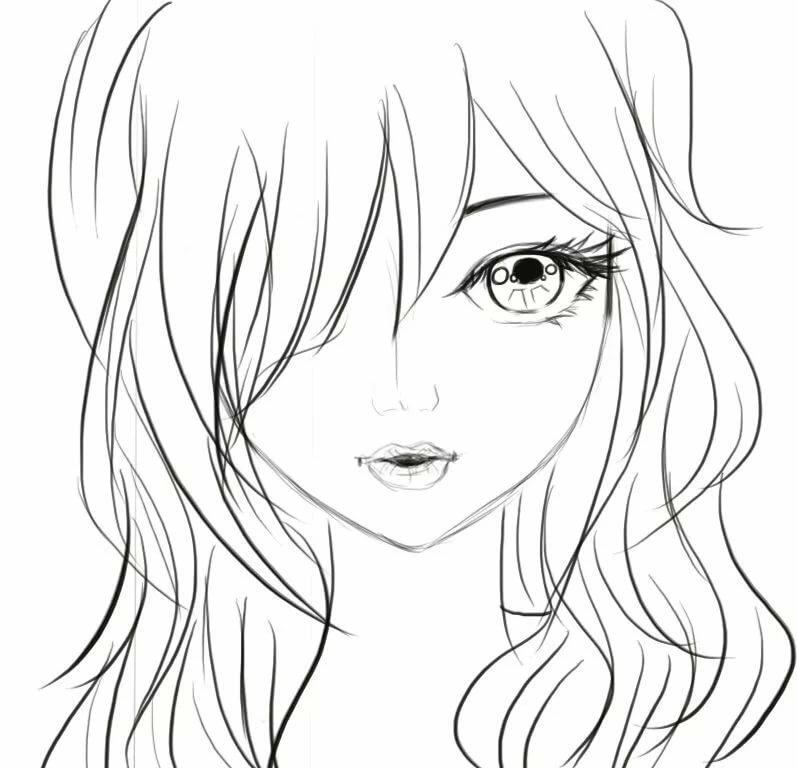 Картинка как рисовать девушку