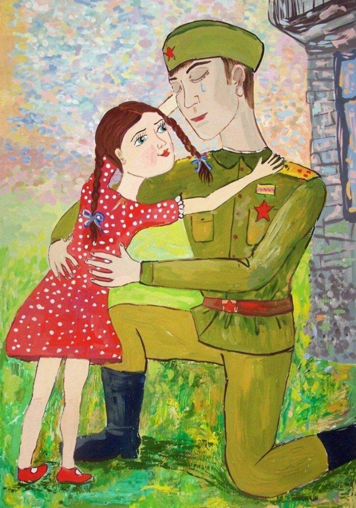 Картинка к 9 маю с солдатом