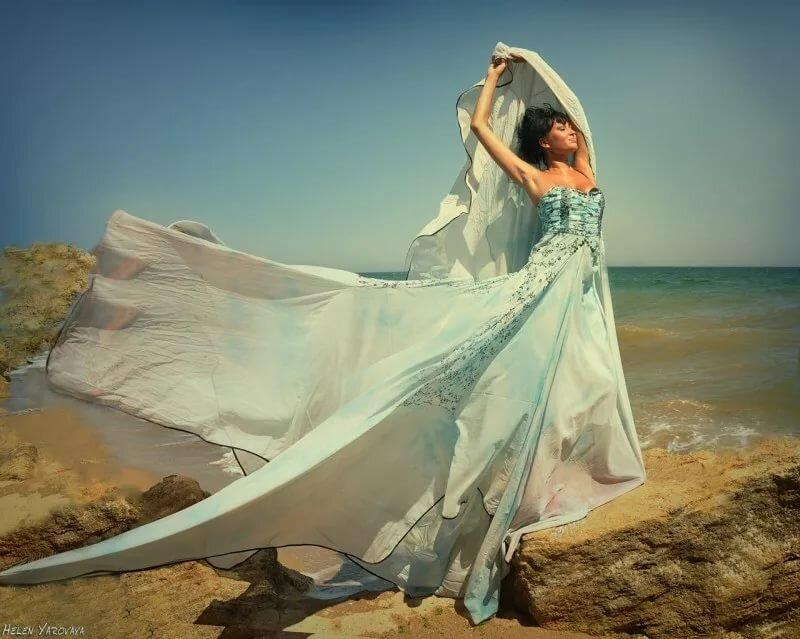 как сфотографировать платье по ветру