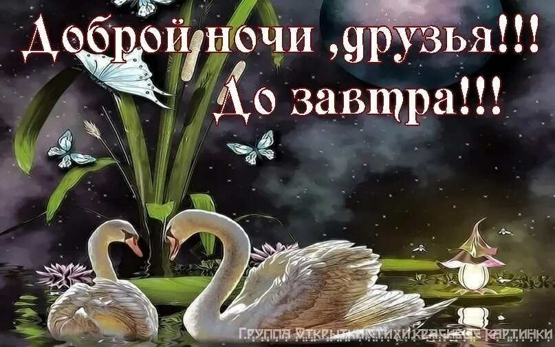 Слова, картинки доброй ночи мои друзья
