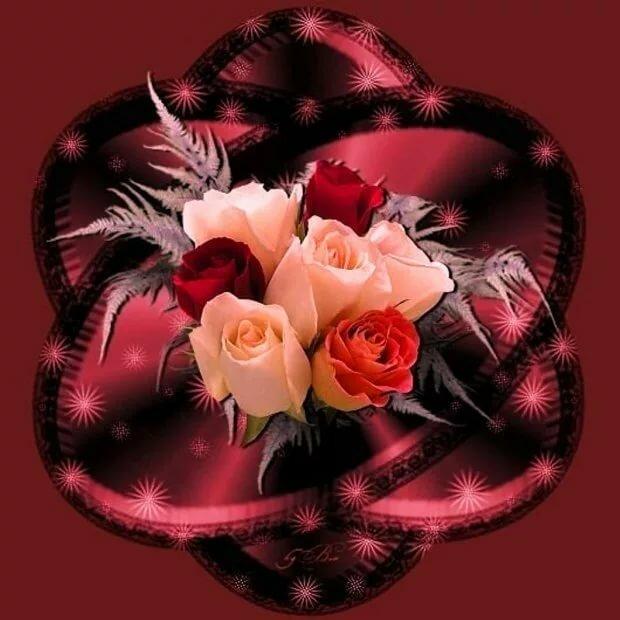 Рождеством друзья, гиф открытки цветы для девушки любимой