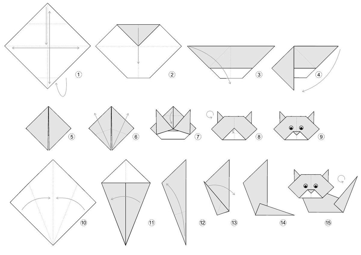 Летием, оригами из бумаги картинки распечатать