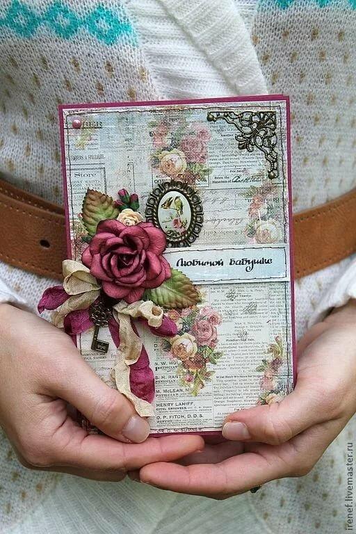 Скрапбукинг открытка к юбилею, именины