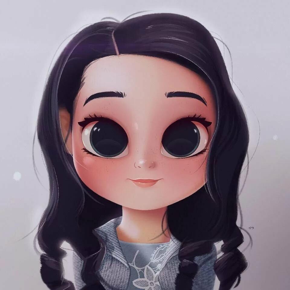 рисунки мила лиды с глазами очень милые счастья любви вам