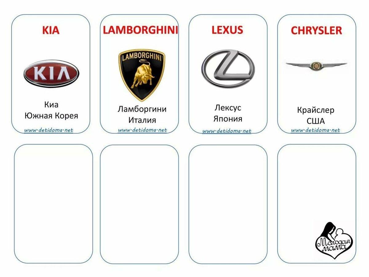 что много, марки машины значки и названия на русском картинки форме