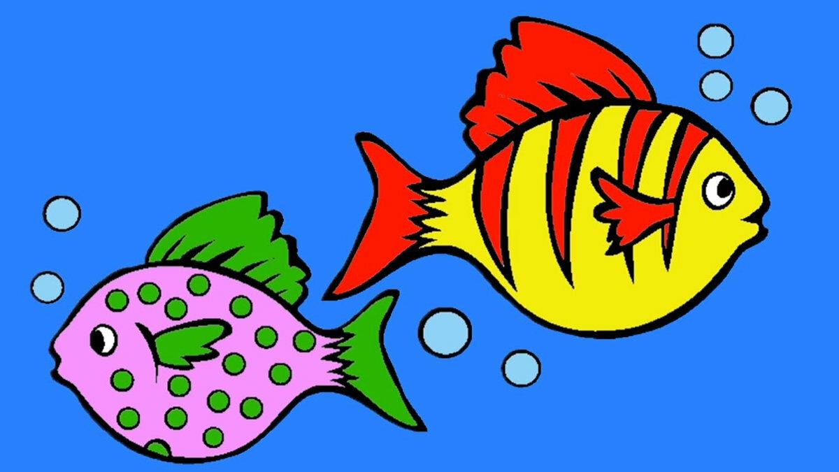Марта для, рисунок с рыбками для детей