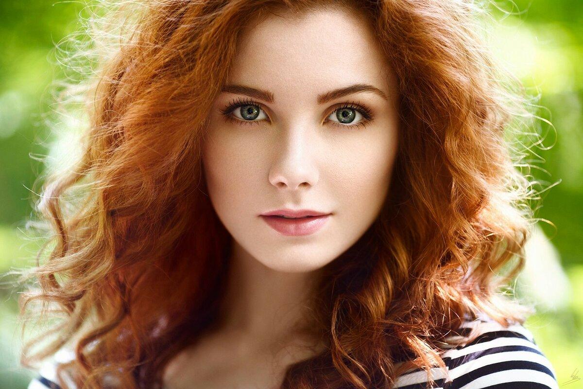фотографии рыжих девушек с зелеными глазами - 2