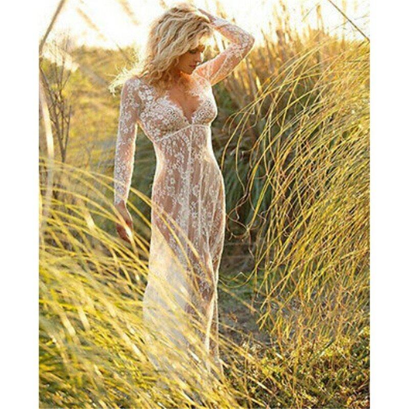 пляжи девушки прозрачные платья