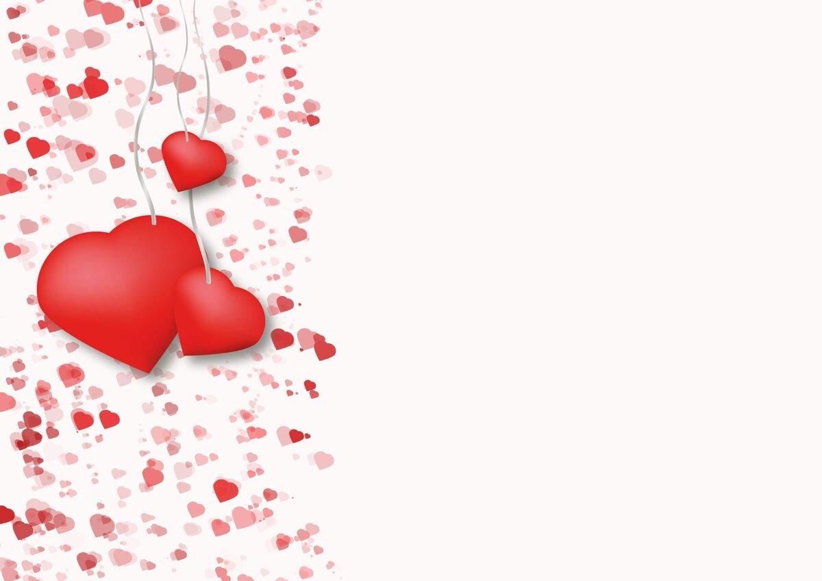 Фон для открыток с сердечками