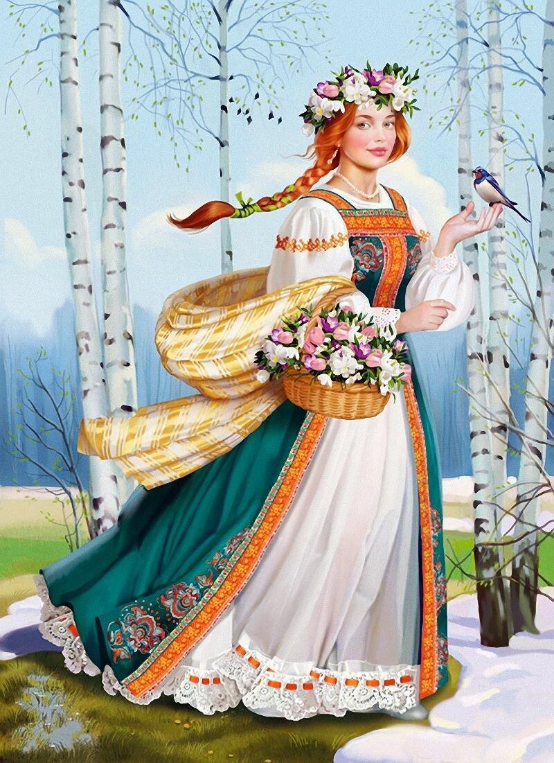 Русская красавица открытка