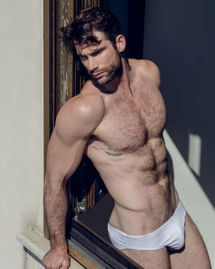 Hairy six pack hunk