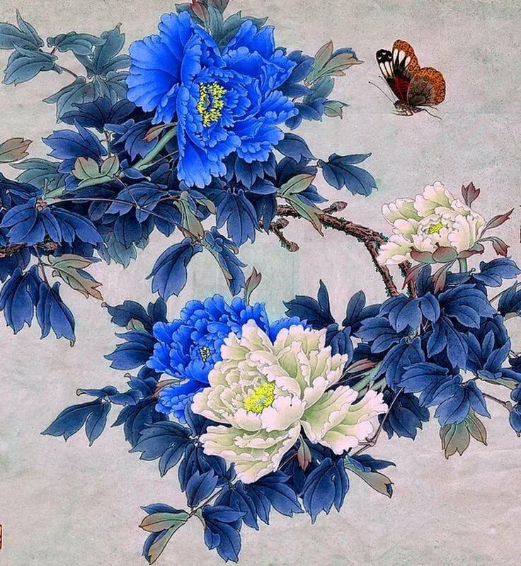 Днем рождения, китайские картинки цветы
