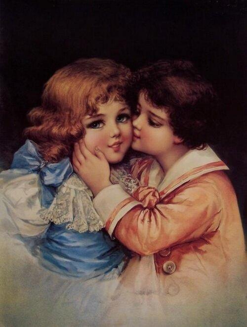 Открытки дети люблю