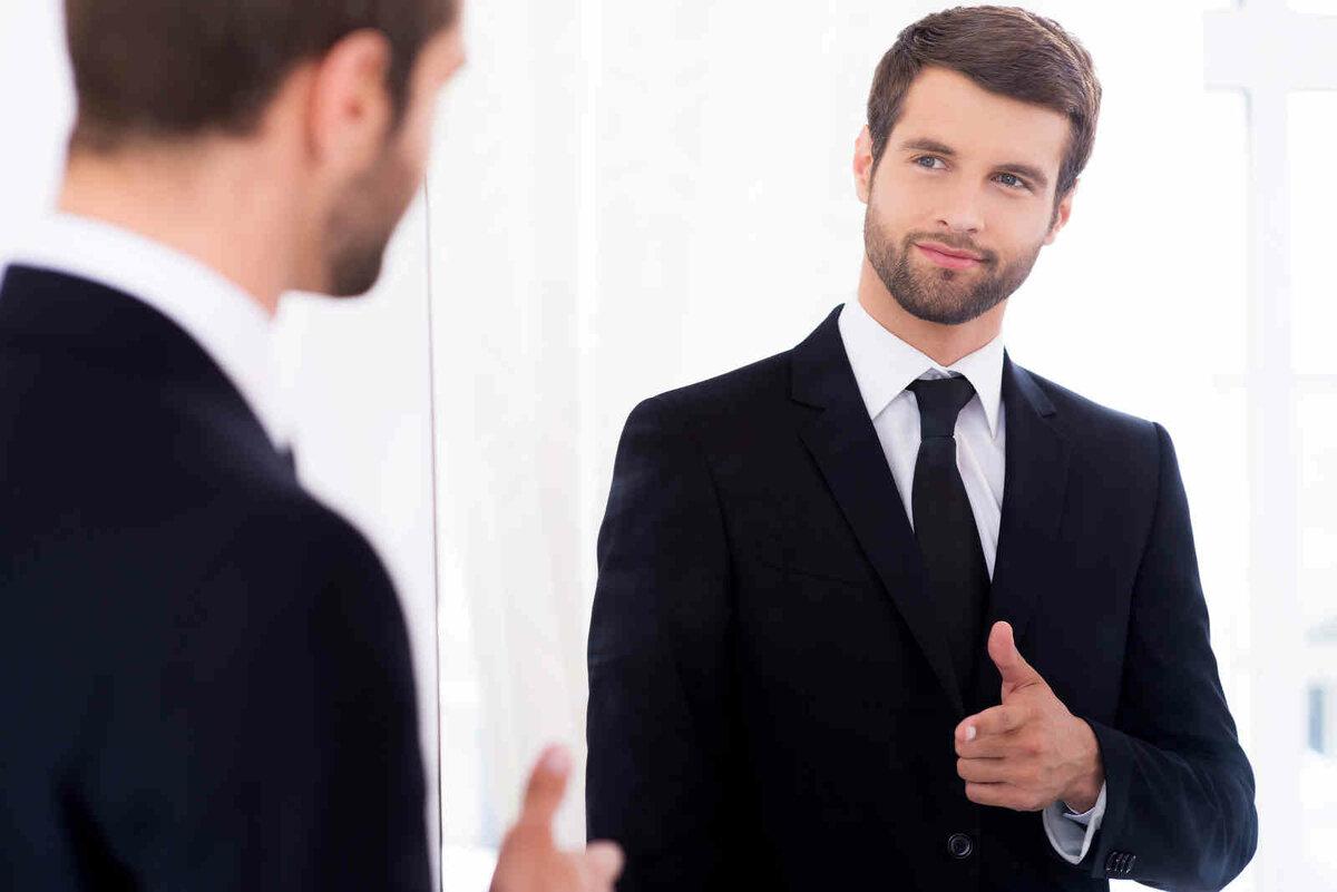 фото уверенного в себе человека вешалка