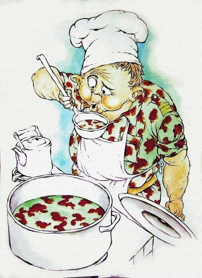 Мордашки, рисунки поваров прикольные