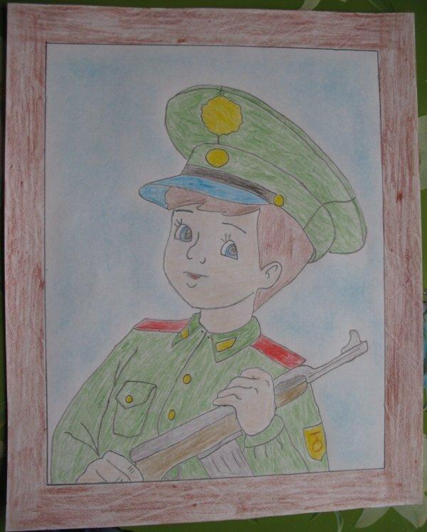 Картинки 23 февраля нарисованные детьми
