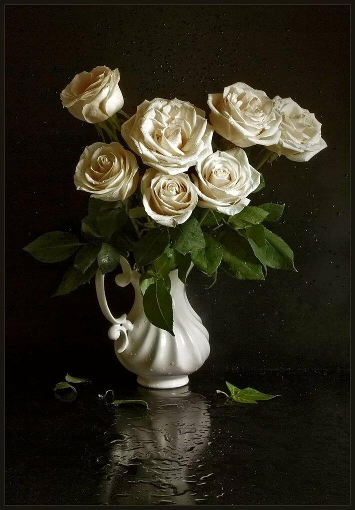 Белые розы с 8 марта открытки со стихами, открытка
