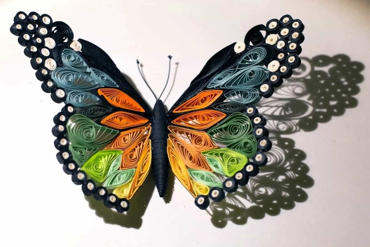 Бабочки из лент на открытку, прикол
