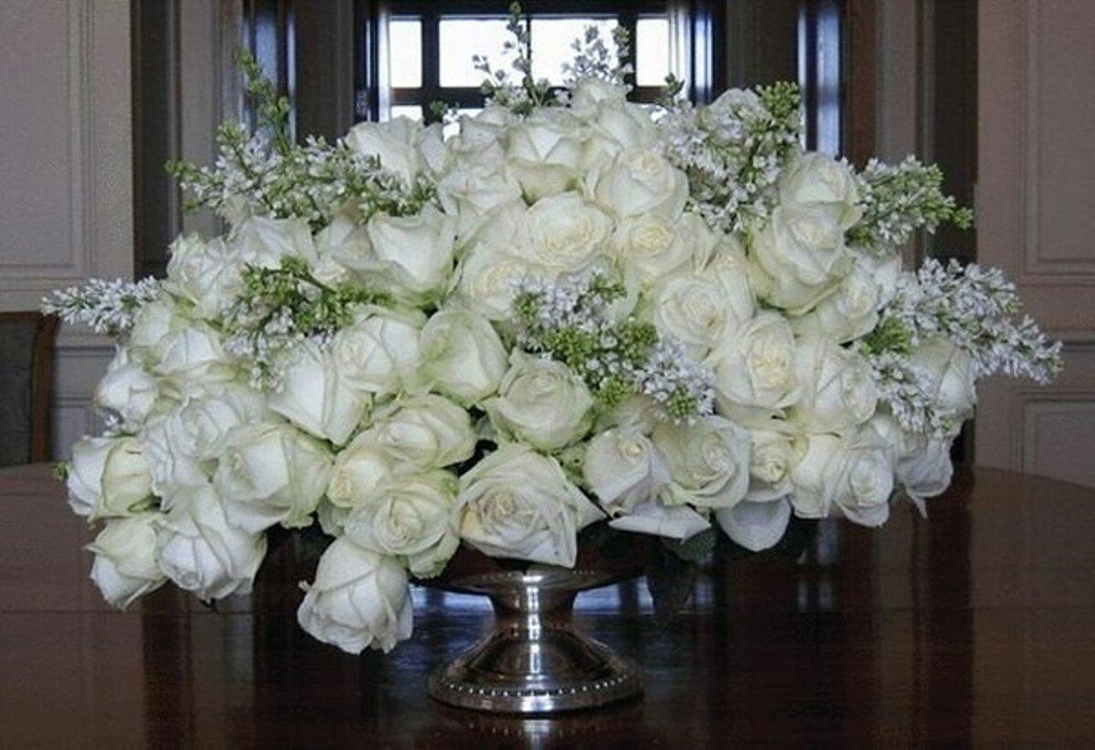 Картинки, белые розы букет открытки