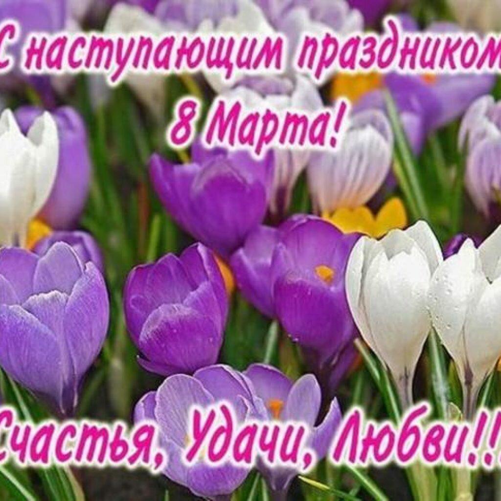 Поздравить наступающим с 8 марта женщину