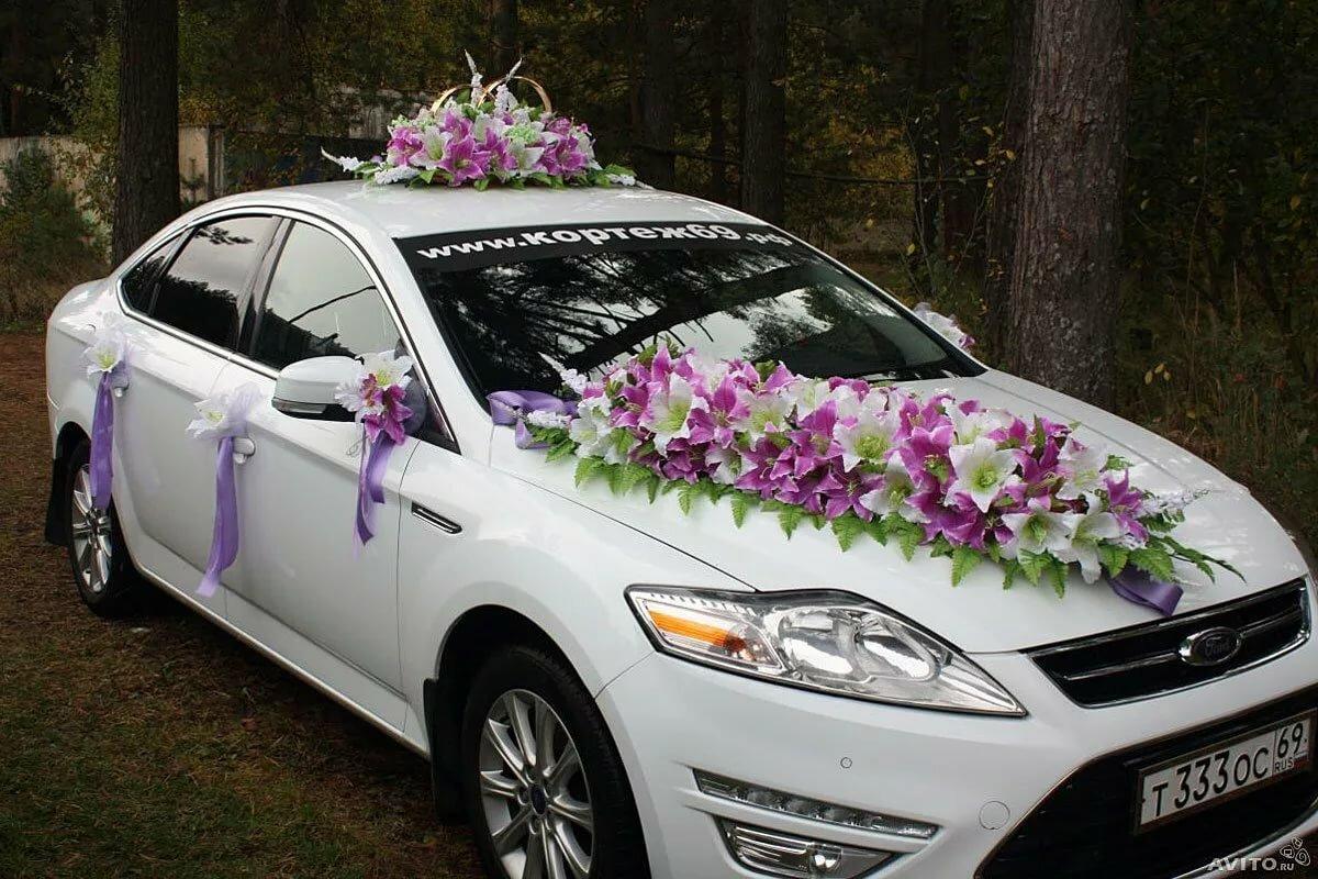Украшения машин на свадьбу картинки