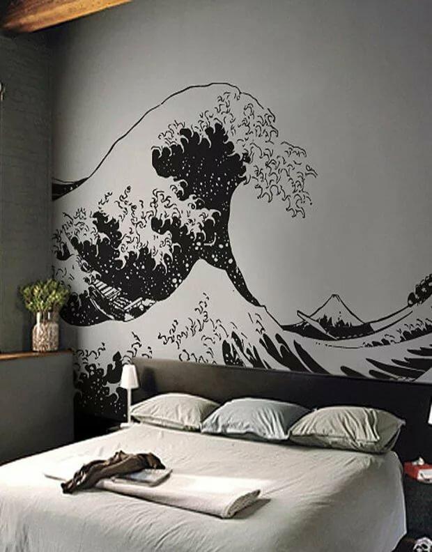 чём можно рисунки черно белые на стене в квартире своими руками фото достаточно