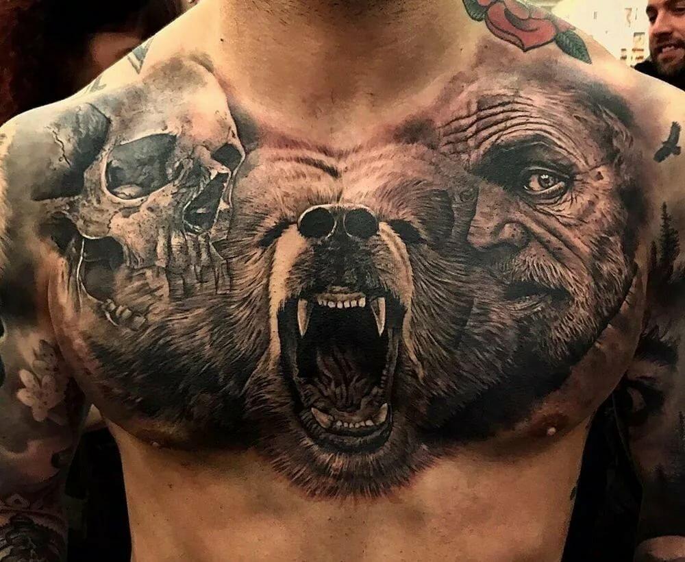 Лучшие фото татуировок медведь