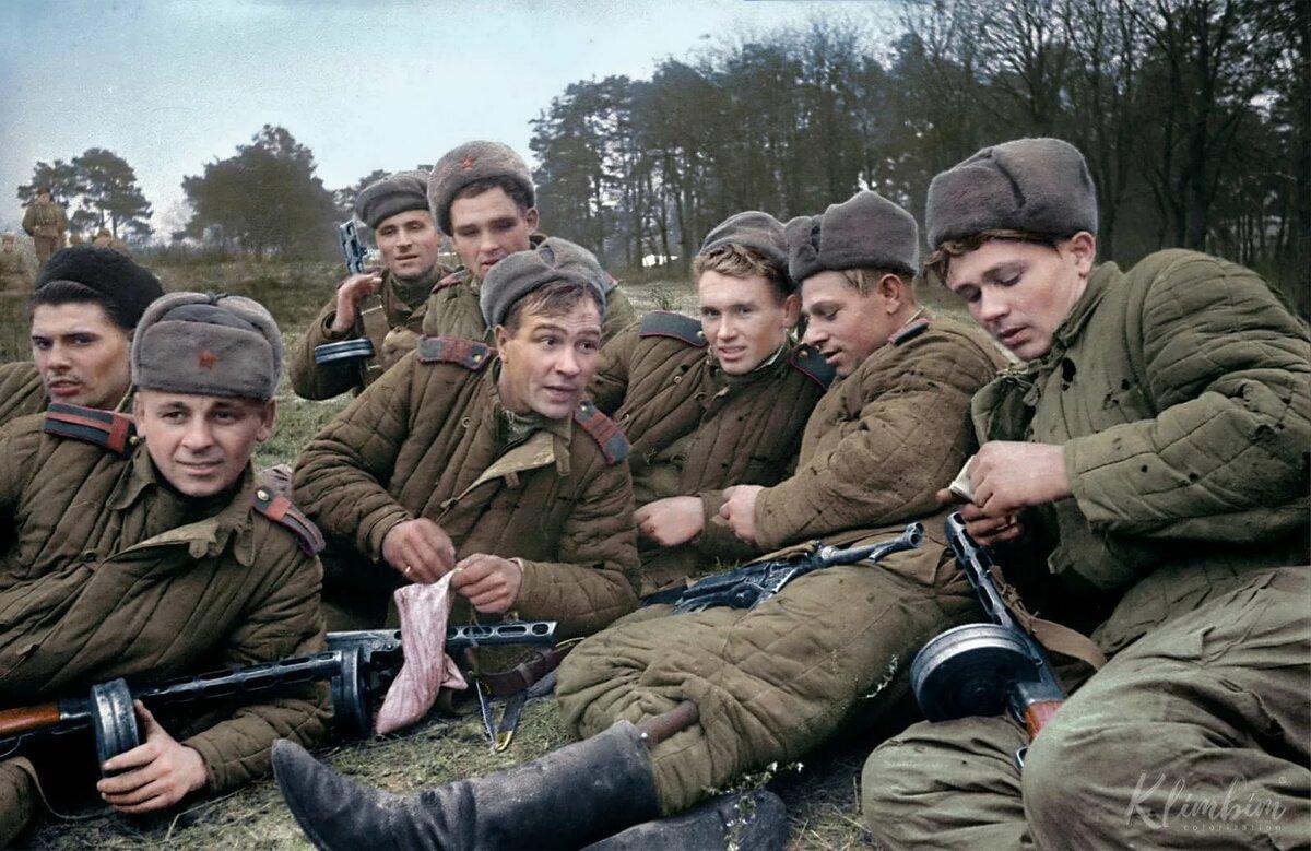 Цветные картинки вов 1941-1945
