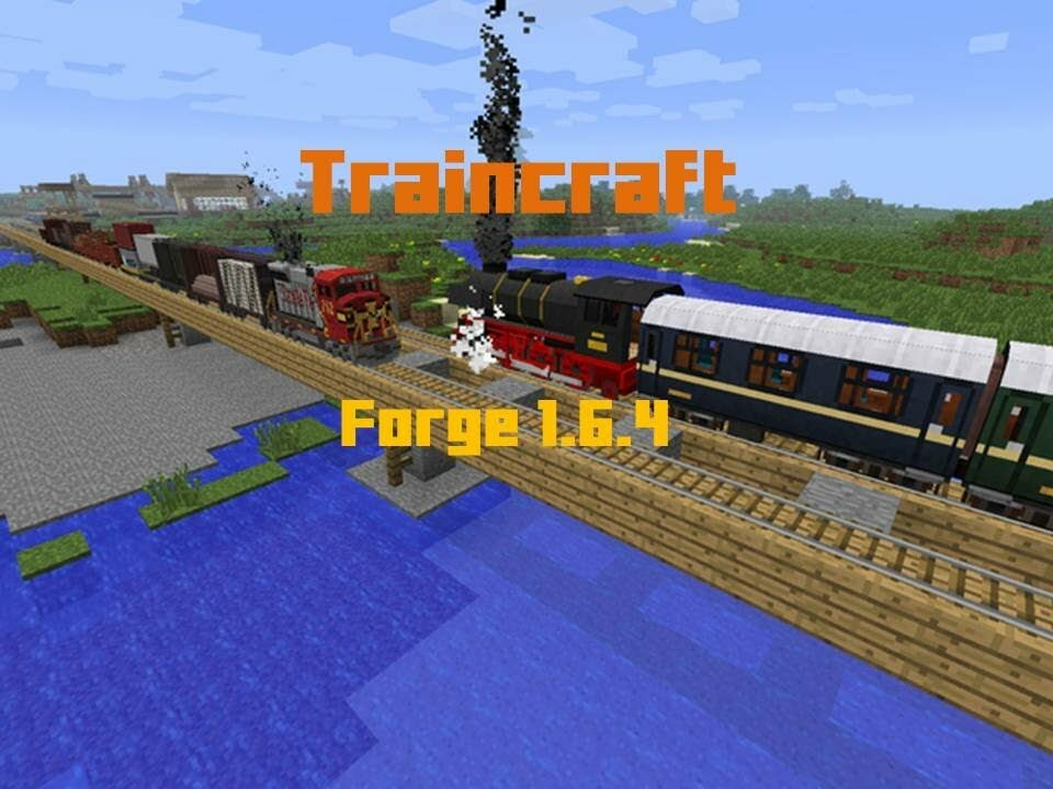 Моды на майнкрафт 1.7.10 на поезда traincraft