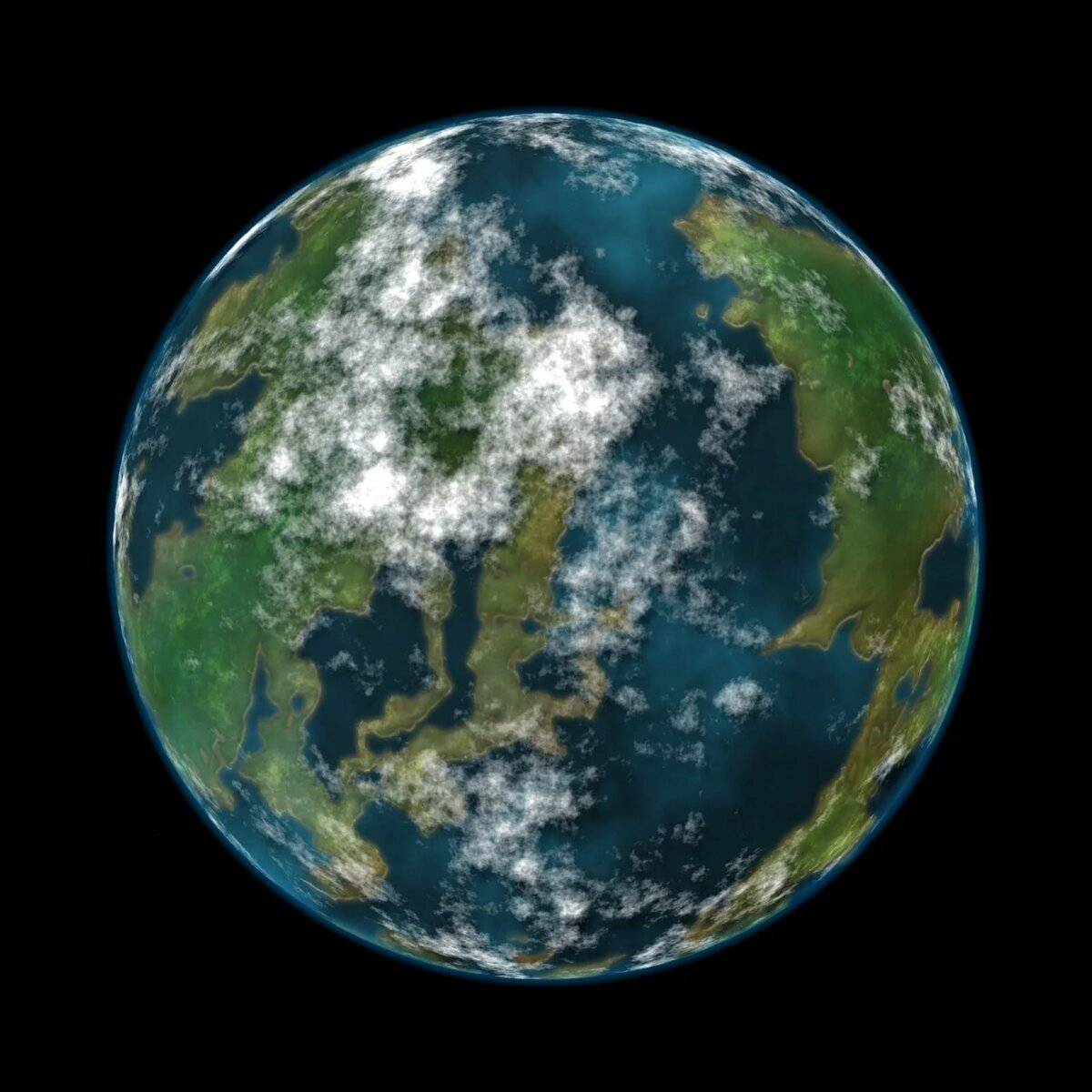 Круглая картинка земли