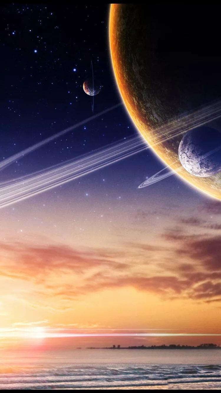 Картинки космос на экран телефона