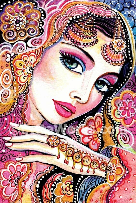 Картинки в индийском стиле нарислванные
