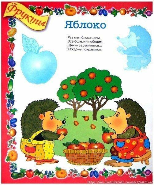 Стихи про яблоко для детей