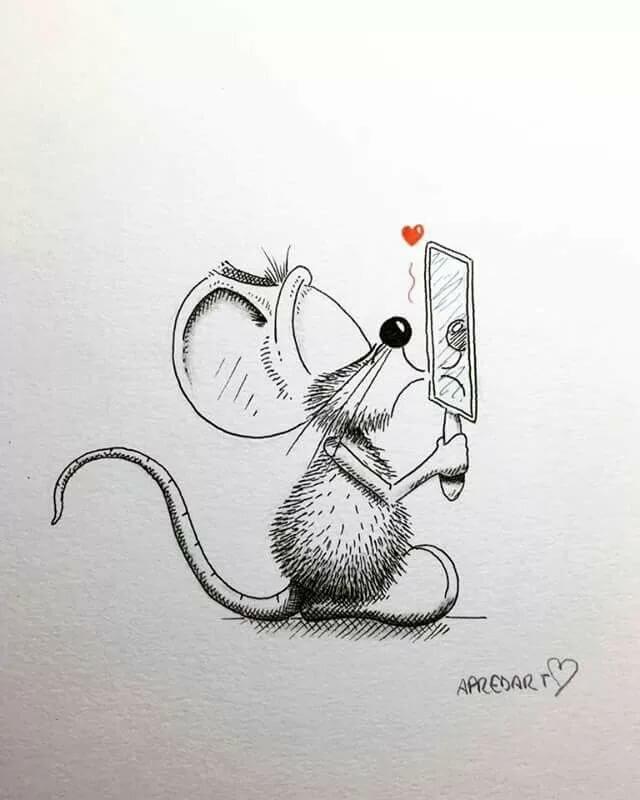 Веселый мышонок рисунок, картинки