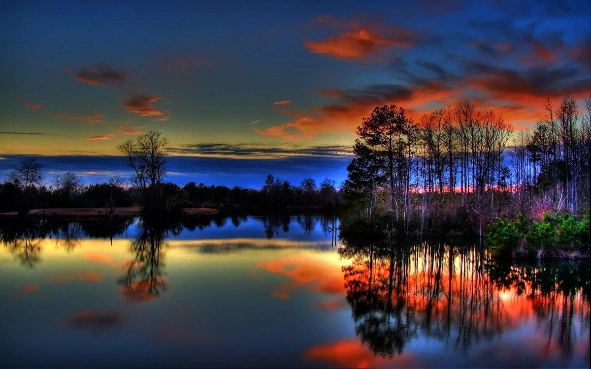 отражение ночи картинки изображение, которое